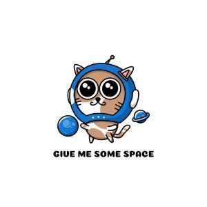 Give Me Some Space Cat Sticker