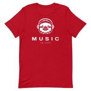 Music Is Life Sloth T-Shirt